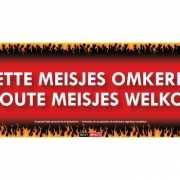 Sticky Devil stickers tekst Omkeren welkom