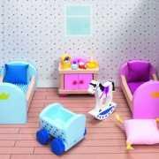 Prinsessen speel slaapkamer meubels