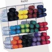 8 textielstiften in diverse kleuren