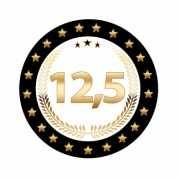 Luxe 12,5 koperen jubileum bierviltjes