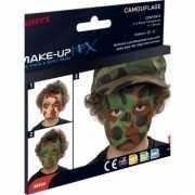 Camouflage schmink met handleiding