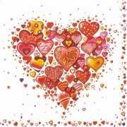 Papieren servetten Liefde 20 stuks
