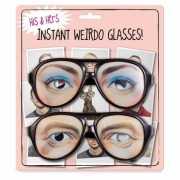 Grote zwarte brillen met ogen