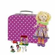 Spullen opbergen koffer roze 30 cm