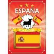 Espana deurposter geel rood