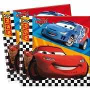 Papieren Cars servetten 20 stuks