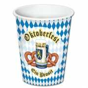 Oktoberfest thema bekers 8 stuks
