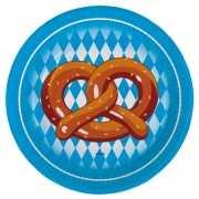 Oktoberfest pretzel feestbordjes 8 stuks