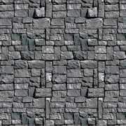 Scenesetter grijze stenen muur 121 x 914 cm