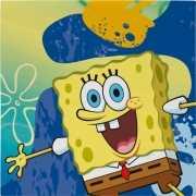 Papieren Spongebob servetten 16 stuks
