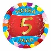 5 jaar verjaardag party viltjes
