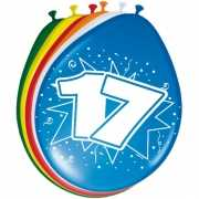 Gekleurde ballonnen 17 jaar