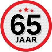 Luxe 65 jaar stickers