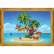 Piraten wandversiering poster eiland