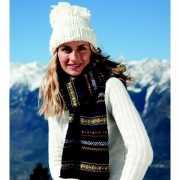 Extra warme gebreide sjaal