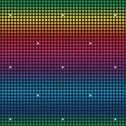 Disco muurdecoratie 9 meter