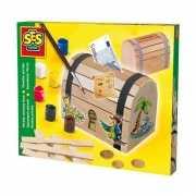 Houten piraten spaarpot bouwpakket