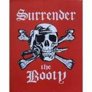 Wandplaatje piraat Surrender