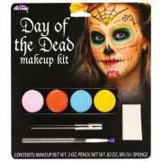 Day of the Dead schminkset gekleurd
