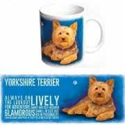 Koffie mok Yorkshire Terrier hond 300 ml