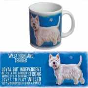 Koffie mok West Higland terrier hond 300 ml