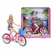 Barbie poppen setje met coole fiets