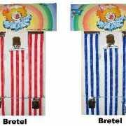 Carnavals bretels met strepen