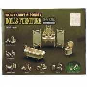 Badkamer inrichting voor poppenhuis