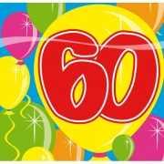 Party servetten 60 jarig feestje