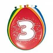 8 stuks ballonnen 3 jaar