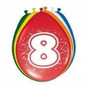 8 stuks ballonnen 8 jaar