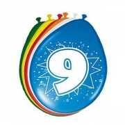 8 stuks ballonnen 9 jaar