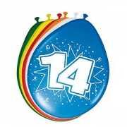 8 stuks leeftijd ballonnen 14 jaar