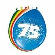 8 stuks ballonnen 75 jaar