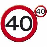 40 jaar placemats/onderzetters