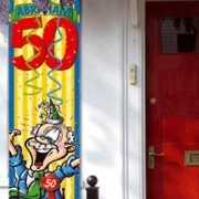Abraham 50 jaar versiering vlag