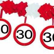 Versiering 30 jaar slingers