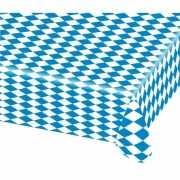 Blauw met wit tafelkleed 80x260 cm