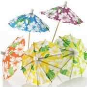 Hawaii thema ijs parasols 24 stuks