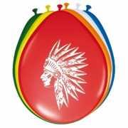 Feest indianen ballonnen 8 stuks