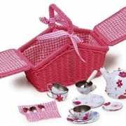 Roze picknick mand set