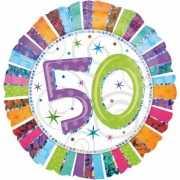 Folie ballon 50 jaar met helium