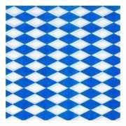 100 servetten blauw met wit