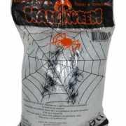 Halloween spinnenweb met spinnen