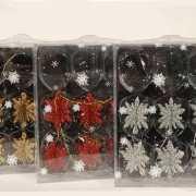 Kerstboom versiering sneeuwvlokken