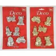 Gouden of zilveren kerst hangers