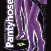 Glans panty in paarse kleur