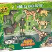 Safari set met beweegbare poppetjes
