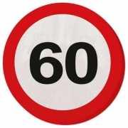 Verkeersbord 60 jaar servetten