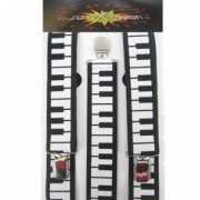 Aparte bretels met piano motief